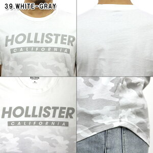 ホリスターHOLLISTER正規品メンズクルーネックカーブヘムカモフラージュ迷彩柄半袖TシャツCamoGraphicTee