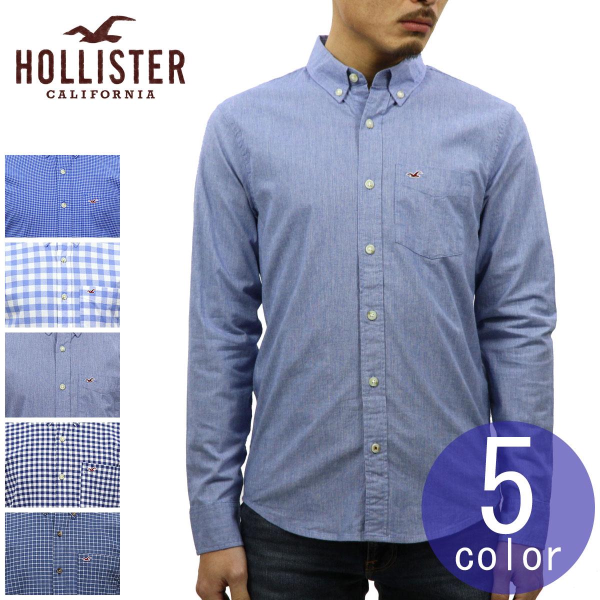 ホリスター HOLLISTER 正規品 メンズ 長袖 ボタンダウン ポプリンシャツ Stretch Poplin Shirt Epic Flex