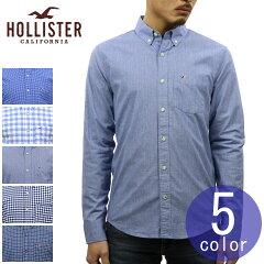 ホリスターHOLLISTER正規品メンズ長袖ボタンダウンポプリンシャツStretchPoplinShirtEpicFlex