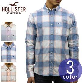 木製ハンガー ギフトセット ホリスター HOLLISTER 正規品 メンズ 長袖 ボタンダウン プラッド柄 ポプリンシャツ Stretch Plaid Poplin Shirt Epic Flex