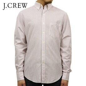 ジェイクルー J.CREW 正規品 メンズ 長袖チェックボタンダウンシャツ CHECK B.D SHIRT ホワイトピンク D15S25