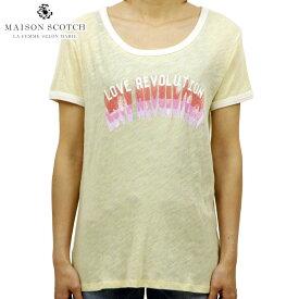 【ポイント10倍 8/22 10:00〜8/24 23:59まで】 メゾンスコッチ MAISON SCOTCH 正規販売店 レディース 半袖Tシャツ Vintage inspired ringer tee 131244 B D15S25