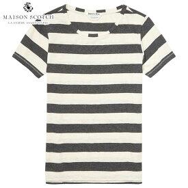 メゾンスコッチ MAISON SCOTCH 正規販売店 レディース 半袖Tシャツ LOOSE FIT T-SHIRT 134877 19 COMBO C