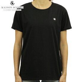メゾンスコッチ MAISON SCOTCH 正規販売店 レディース 半袖Tシャツ フリックスデザイン AMS BLAUW FELIX THE CAT S/S TEE WITH SMALL EMBROIDERY 144963 08 64416 BLACK D
