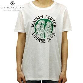 メゾンスコッチ MAISON SCOTCH 正規販売店 レディース 半袖Tシャツ RELAXED FIT VARIOUS ARTWORKS TEE 150191 01 OFF WHITE