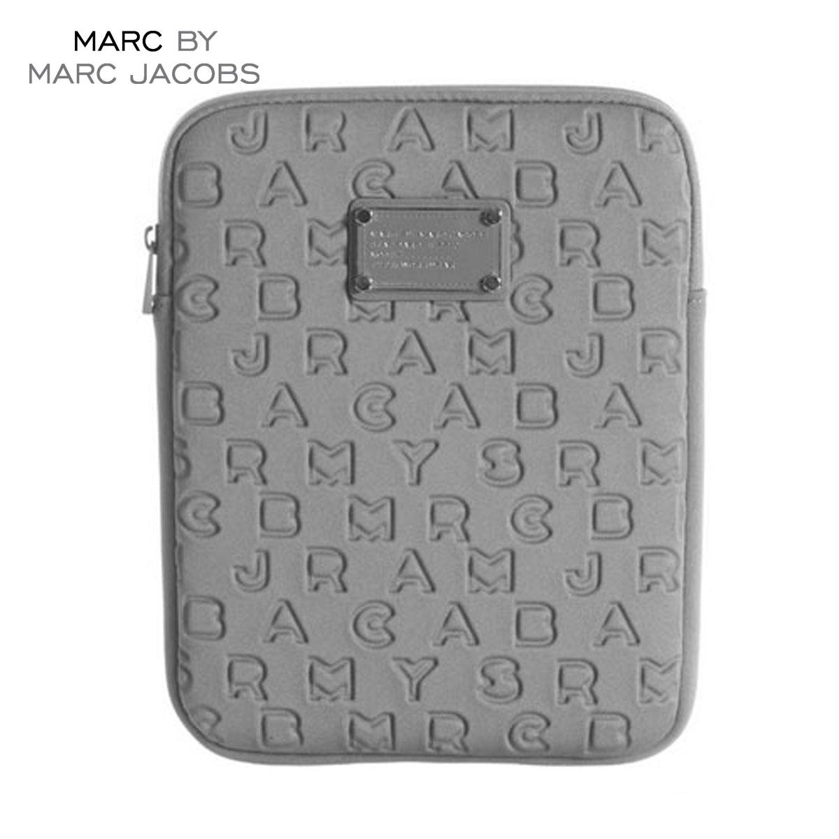 【販売期間 10/18 10:00〜10/26 1:59】 マークジェイコブス MARCJACOBS 正規品 タブレットケース Dreamy Logo Neoprene Tablet Case GREY D15S25