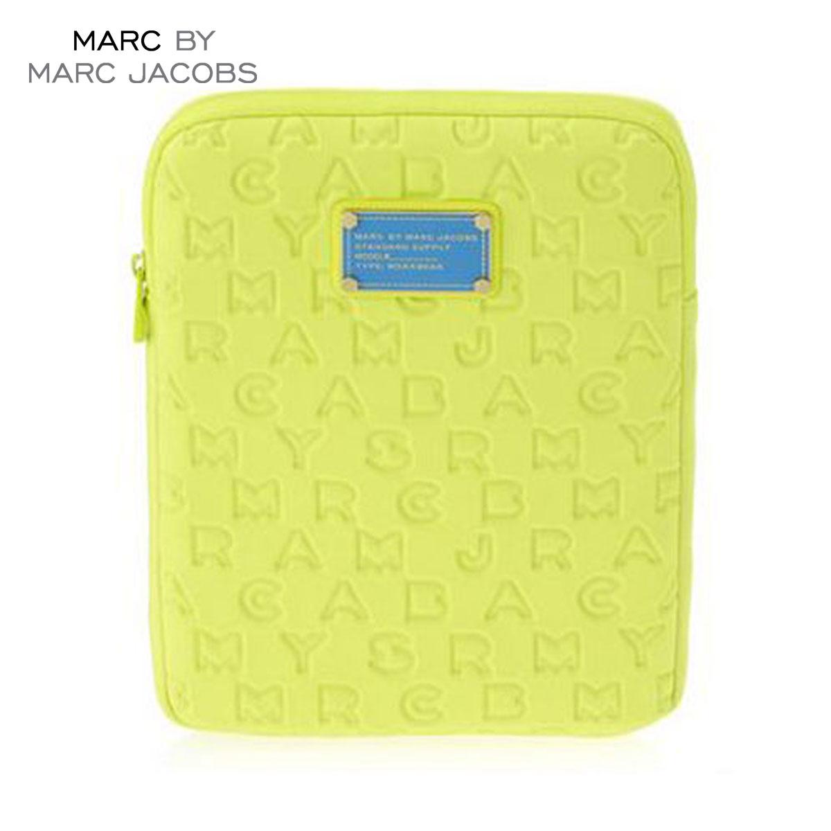 【販売期間 8/16 13:00〜8/23 9:59】 マークジェイコブス MARCJACOBS 正規品 タブレットケース Dreamy Logo Neoprene Tablet Case LIME