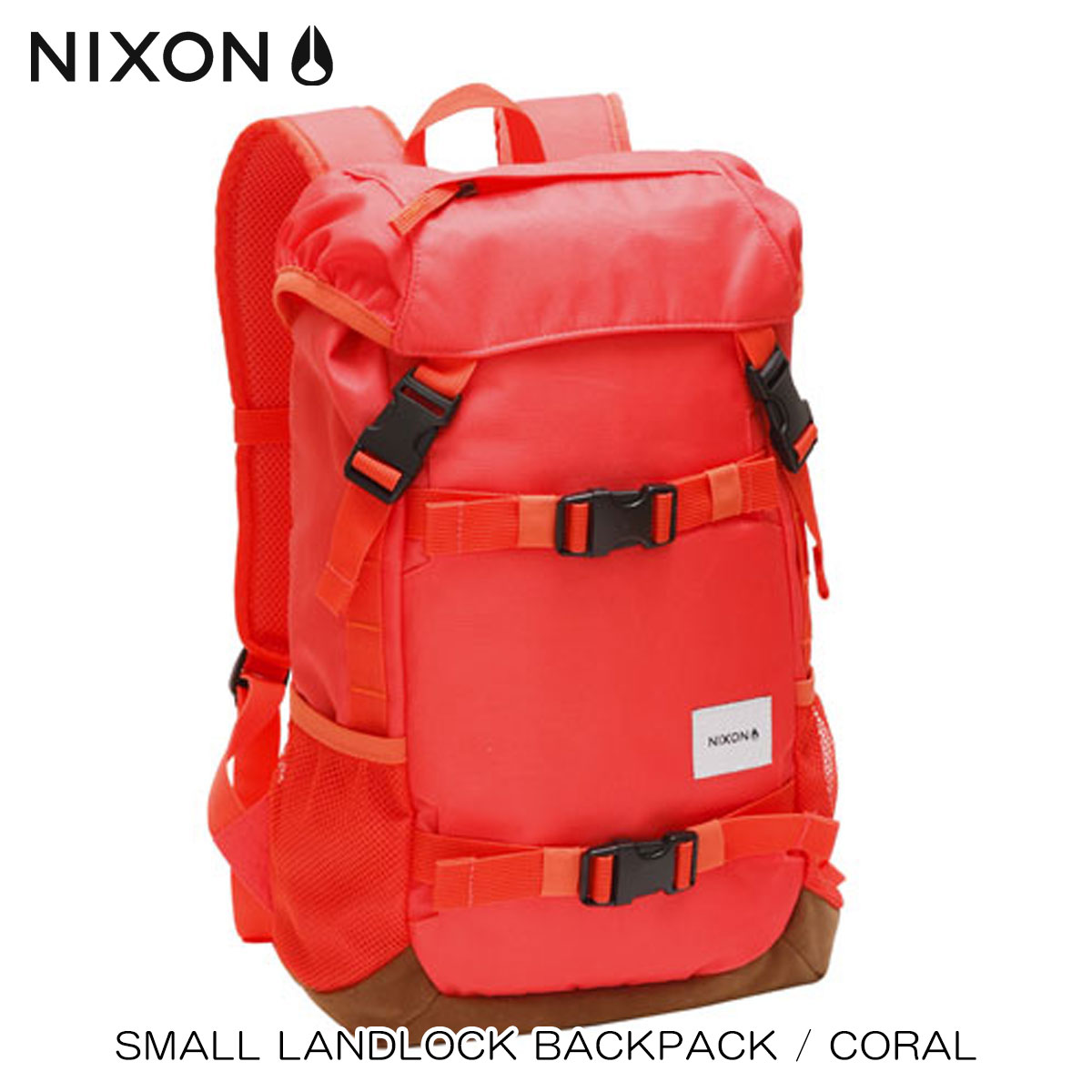 25%OFFセール 【販売期間 9/22 9:00〜9/26 9:59】 ニクソン NIXON 正規販売店 バッグ Small Landlock Backpack CORAL RED NC2256685-00 D15S25