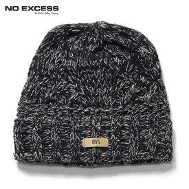 ノーエクセス キャップ メンズ 正規販売店 NO EXCESS ニットキャップ 帽子 CABLE KNIT CAP 950912 78 NAVY