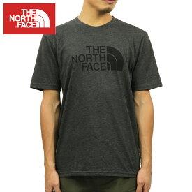 ノースフェイス Tシャツ メンズ 正規品 THE NORTH FACE 半袖Tシャツ クルーネックTシャツ SHORT-SLEEVE HALF DOME TEE TNF DARK GREY HEATHER