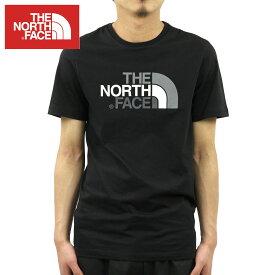 ノースフェイス Tシャツ メンズ 正規品 THE NORTH FACE 半袖Tシャツ クルーネック ロゴTシャツ SHORT SLEEVE EASY TEE NF0A2TX3 TNF BLACK