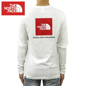 ノースフェイス ロンT メンズ 正規品 THE NORTH FACE 長袖Tシャツ バックプリント ロゴTシャツ LONG SLEEVE RED BOX TEE NF0A493L TNF WHITE