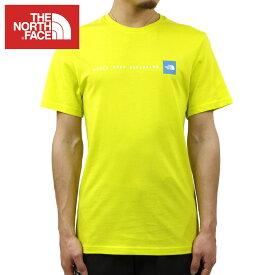 ノースフェイス Tシャツ メンズ 正規品 THE NORTH FACE 半袖Tシャツ ロゴ SHORT SLEEVE NEVER STOP EXPLORING TEE NF0A2TX4 SULPHUR SPRING GREEN