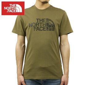 ノースフェイス Tシャツ メンズ 正規品 THE NORTH FACE 半袖Tシャツ ロゴ SHORT SLEEVE WOODCUT DOME TEE NF00A3G1 MILITARY OLIVE