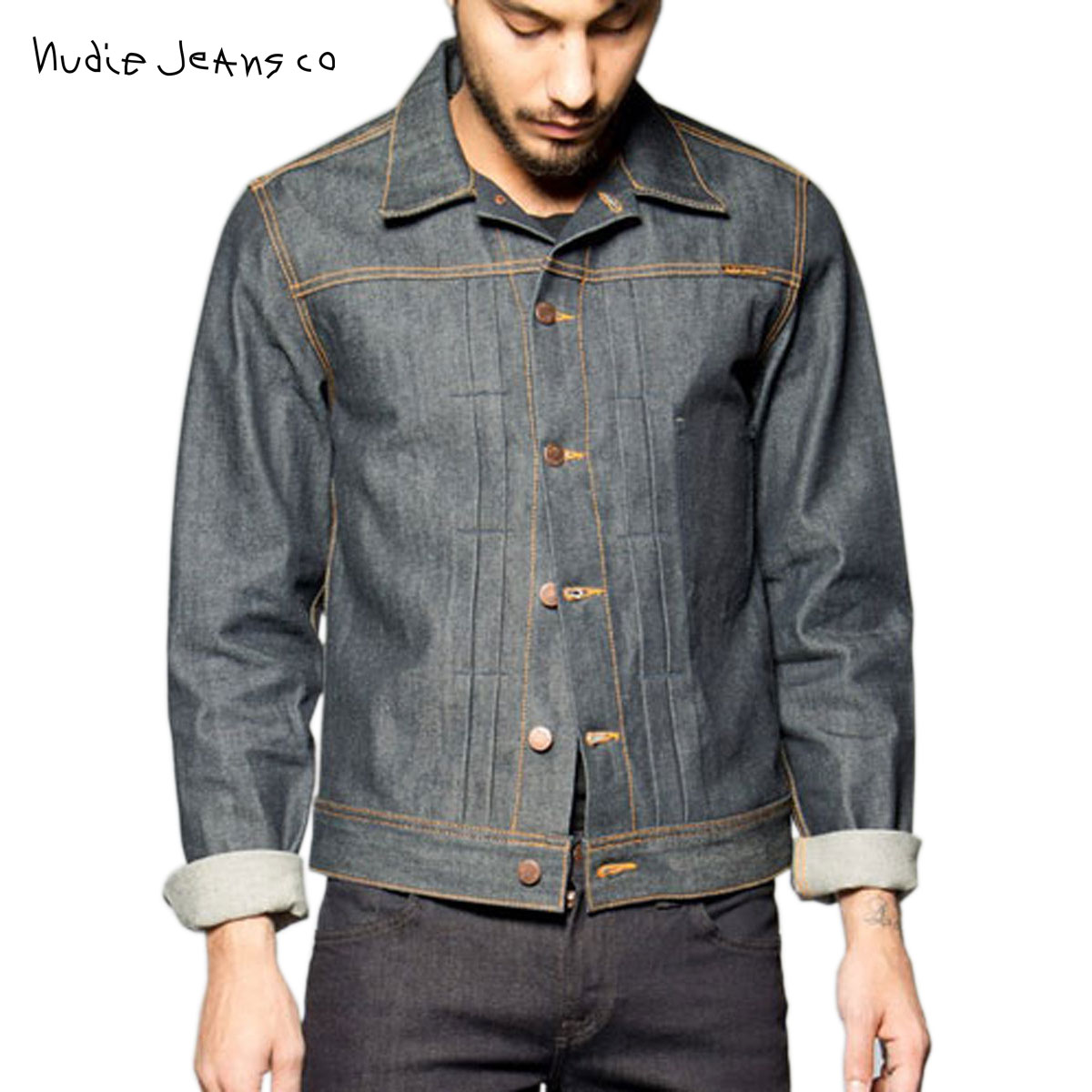 ヌーディージーンズ Nudie Jeans 正規販売店 メンズ デニムジャケット Sonny Dry Dirt Org. Denim B26 160167 5002