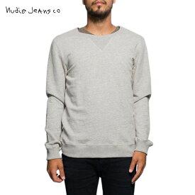 ヌーディージーンズ スウェット メンズ 正規販売店 Nudie Jeans トレーナー Sweatshirt Org. Backbone Grey melange B04 150161 4024 D00S20
