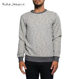 ヌーディージーンズ スウェット メンズ 正規販売店 Nudie Jeans トレーナー Sammy Sweatshirt Grey melange B04 150152 4021 D15S25