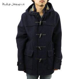 ヌーディージーンズ アウター メンズ 正規販売店 Nudie Jeans ジャケット コート Howard Duffel Bouble Face Navy B25 160310 5011