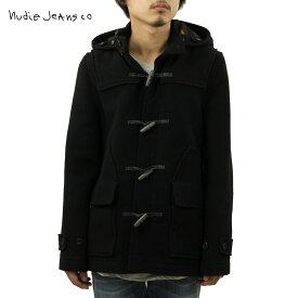 ヌーディージーンズ アウター メンズ 正規販売店 Nudie Jeans ジャケット コート Howard Duffel Bouble Face Black B01 160310 5011