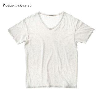 누디 청바지 T셔츠 정규 판매점 Nudie Jeans 반소매 T셔츠 누디 청바지 Loose Tee White 131404