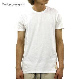 ヌーディージーンズ Tシャツ 正規販売店 Nudie Jeans 半袖Tシャツ O-Neck Tee W04 Offwhite 131411