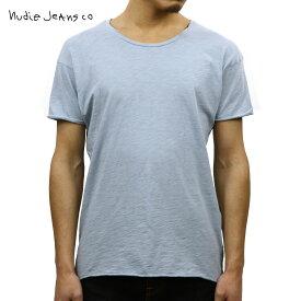 【ポイント10倍 12/4 20:00〜12/11 01:59まで】 ヌーディージーンズ Tシャツ 正規販売店 Nudie Jeans 半袖Tシャツ ROGER SLUB TEE131484 4002 CLOUD