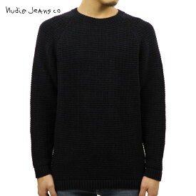【ポイント10倍 12/4 20:00〜12/11 01:59まで】 ヌーディージーンズ セーター メンズ 正規販売店 Nudie Jeans HANS STRUCTURE KNIT SWEATER 150327 6002 BLACK/BLUE