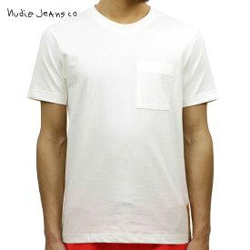 【ポイント10倍 12/14 10:00〜12/18 09:59まで】 ヌーディージーンズ Nudie Jeans 正規販売店 メンズ クルーネック 半袖ポケットTシャツ KURT WORKER TEE OFFWHITE W04 131532