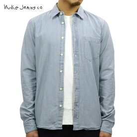 ヌーディージーンズ Nudie Jeans 正規販売店 メンズ 長袖シャンブレーシャツ HENRY CHAMBRAY SHIRT INDIGO B21 140539