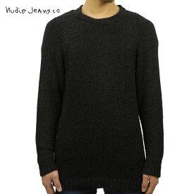 【ポイント10倍 12/4 20:00〜12/11 01:59まで】 ヌーディージーンズ Nudie Jeans 正規販売店 メンズ クルーネック セーター HANS CREW NECK KNIT BLACK/INDIGO B88 150328 6005