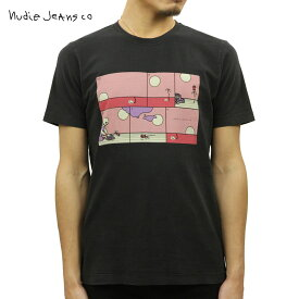 ヌーディージーンズ Tシャツ 正規販売店 Nudie Jeans 半袖Tシャツ ROY CREW TEE SHIRT REBIRTH BLACK B01 131694 4039