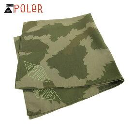 ポーラー POLER 正規販売店 バンダナ スカーフ BANDANAS 636025-GCO GREEN FURRY CAMO