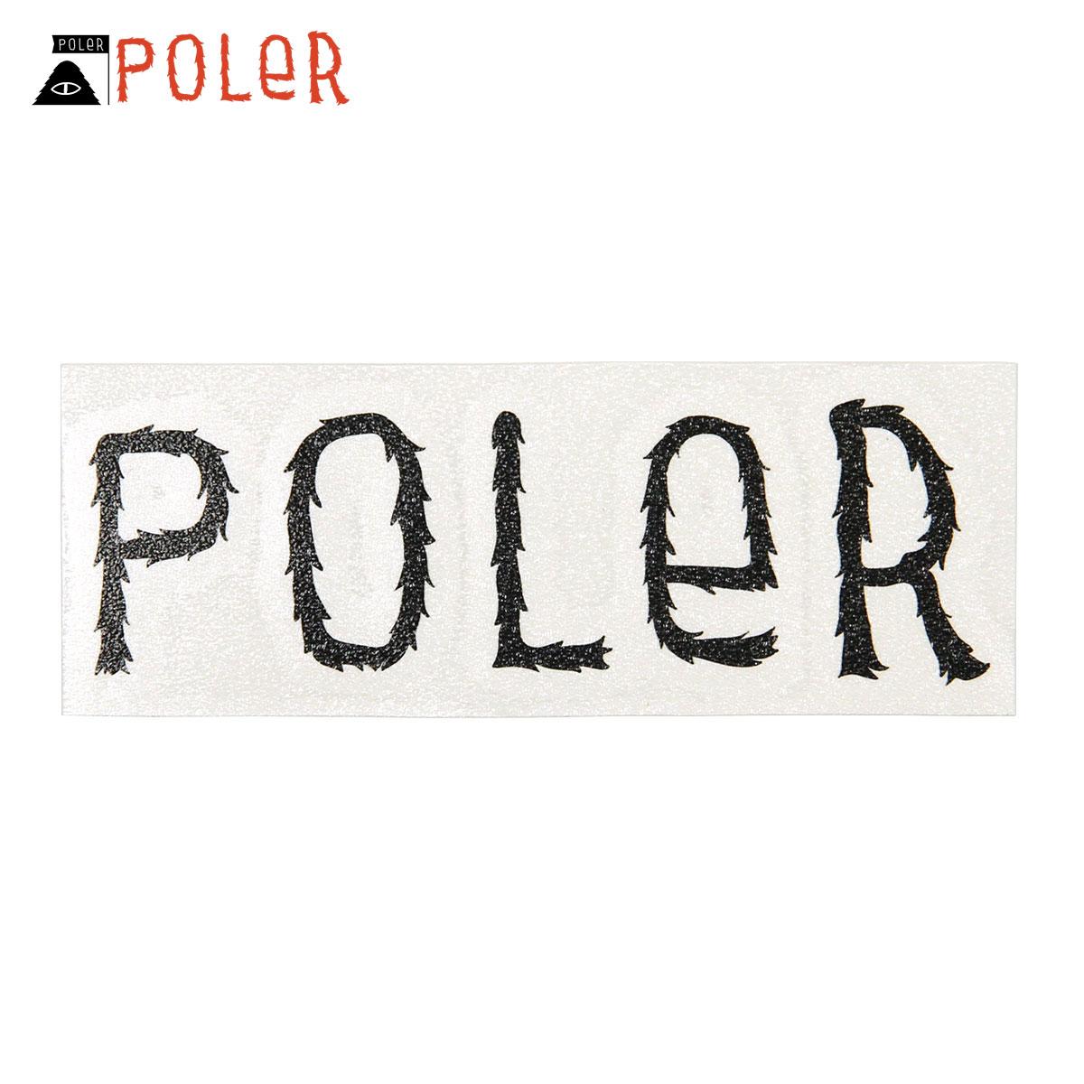 ポーラー POLER 正規販売店 ステッカー POLER DIE-CUT STICKER FURRY FONT S 3inch (2.5cm×8.0cm)