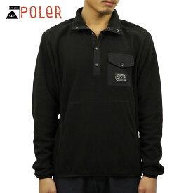 ポーラー POLER 正規販売店 メンズ ボタンアップフリース SNAP FLEECE SPECIALTY 21600006-BLK BLACK