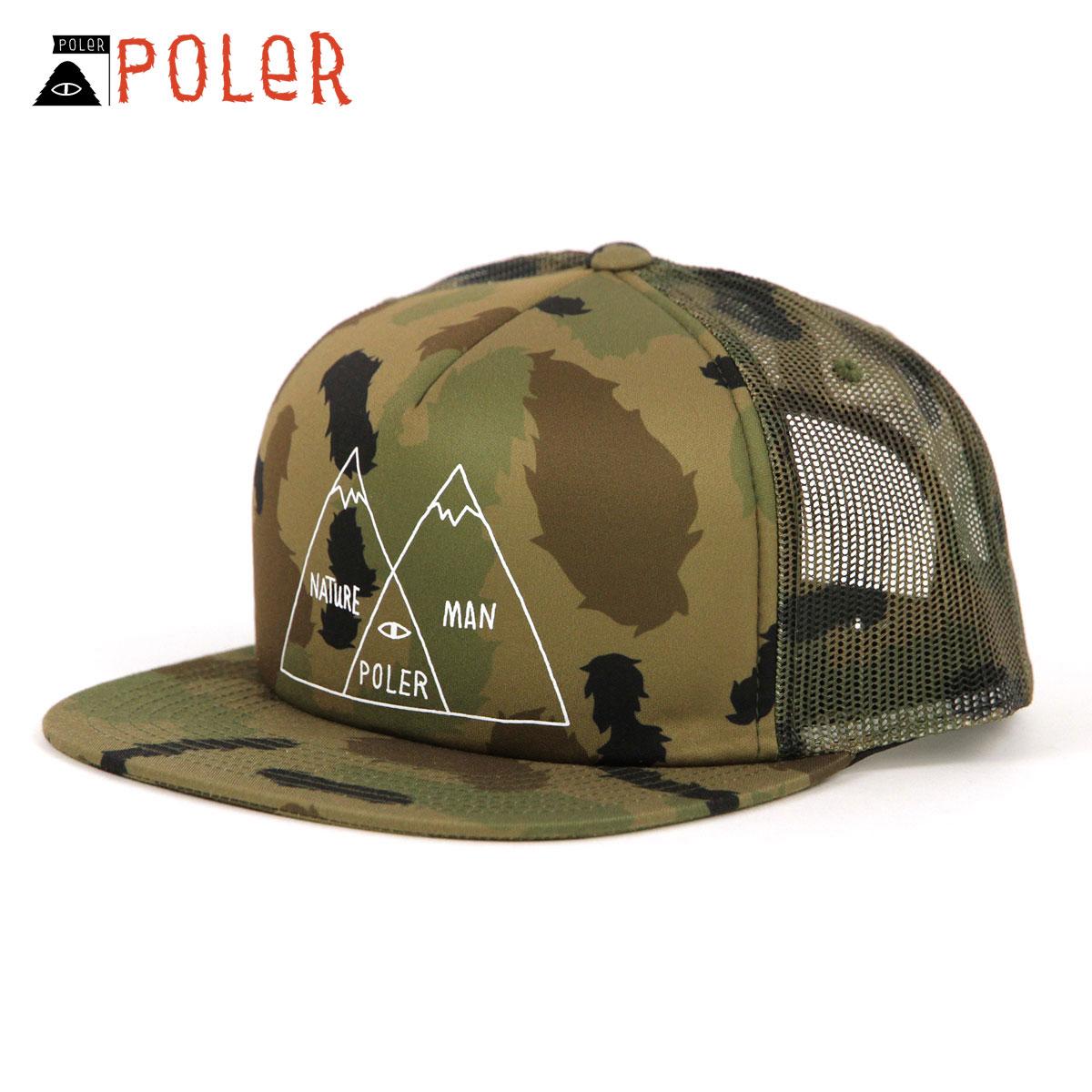 ポーラー POLER 正規販売店 キャップ 帽子 VENN TRUCKER HAT 31750004-OCO OLIVE FURRY CAMO