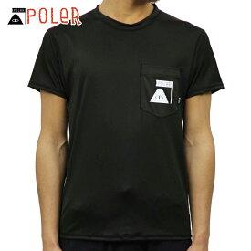 ポーラー POLER 正規販売店 メンズ 半袖 ラッシュガード Tシャツ SUMMIT RUSH GUARD S/S TEE BLACK