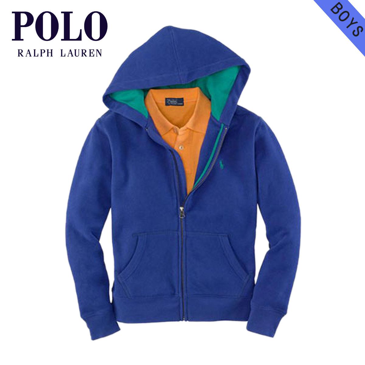 ポロ ラルフローレン キッズ POLO RALPH LAUREN CHILDREN 正規品 子供服 ボーイズ パーカー Full-Zip Pony Hoodie #17535466 BLUE D15S25