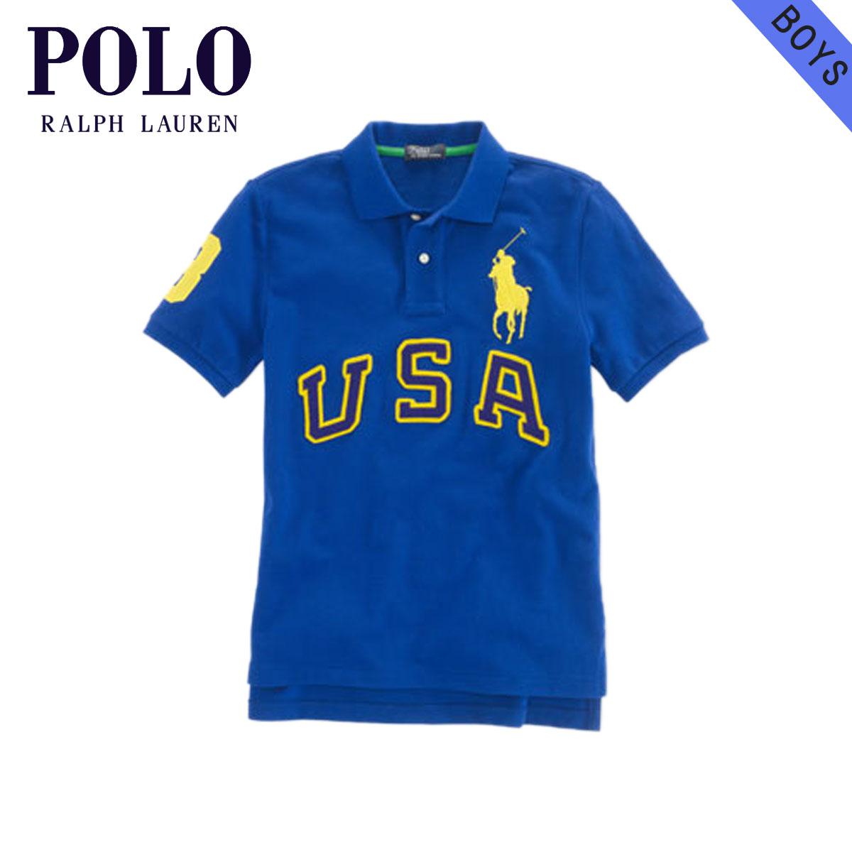 【販売期間 4/24 21:00〜5/1 9:59】 ポロ ラルフローレン キッズ POLO RALPH LAUREN CHILDREN 正規品 子供服 ボーイズ ポロシャツ USA Big Pony Cotton Polo #19150686 BLUE