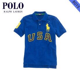 ポロ ラルフローレン キッズ ポロシャツ ボーイズ 子供服 正規品 POLO RALPH LAUREN CHILDREN 半袖ポロシャツ USA Big Pony Cotton Polo #19150686 BLUE D20S30