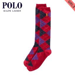 馬球拉爾夫勞倫小孩POLO RALPH LAUREN CHILDREN正規的物品童裝女孩子襪子Argyle Knee-High Socks#23027176 RED