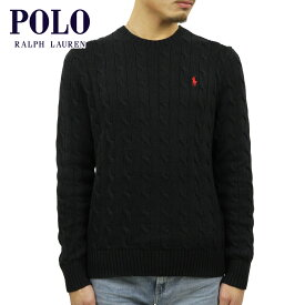 ポロ ラルフローレン セーター メンズ 正規品 POLO RALPH LAUREN ケーブルニット クルーネックセーター CABLE-KNIT COTTON SWEATER