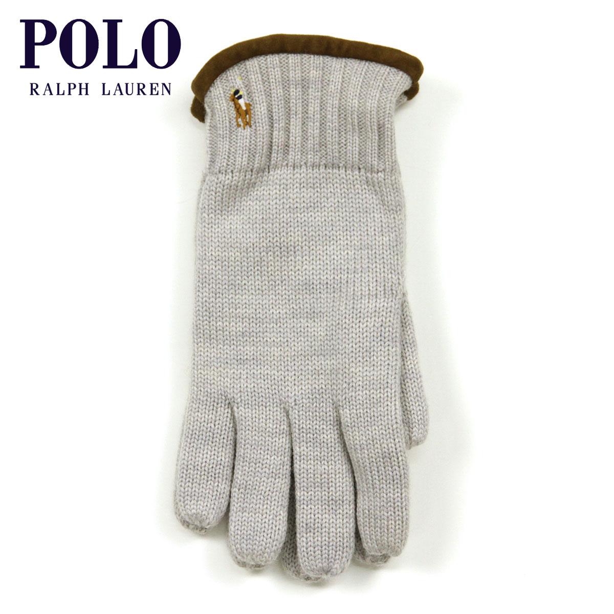 ポロ ラルフローレン POLO RALPH LAUREN 正規品 手袋 Classic Merino Gloves GREY D20S30