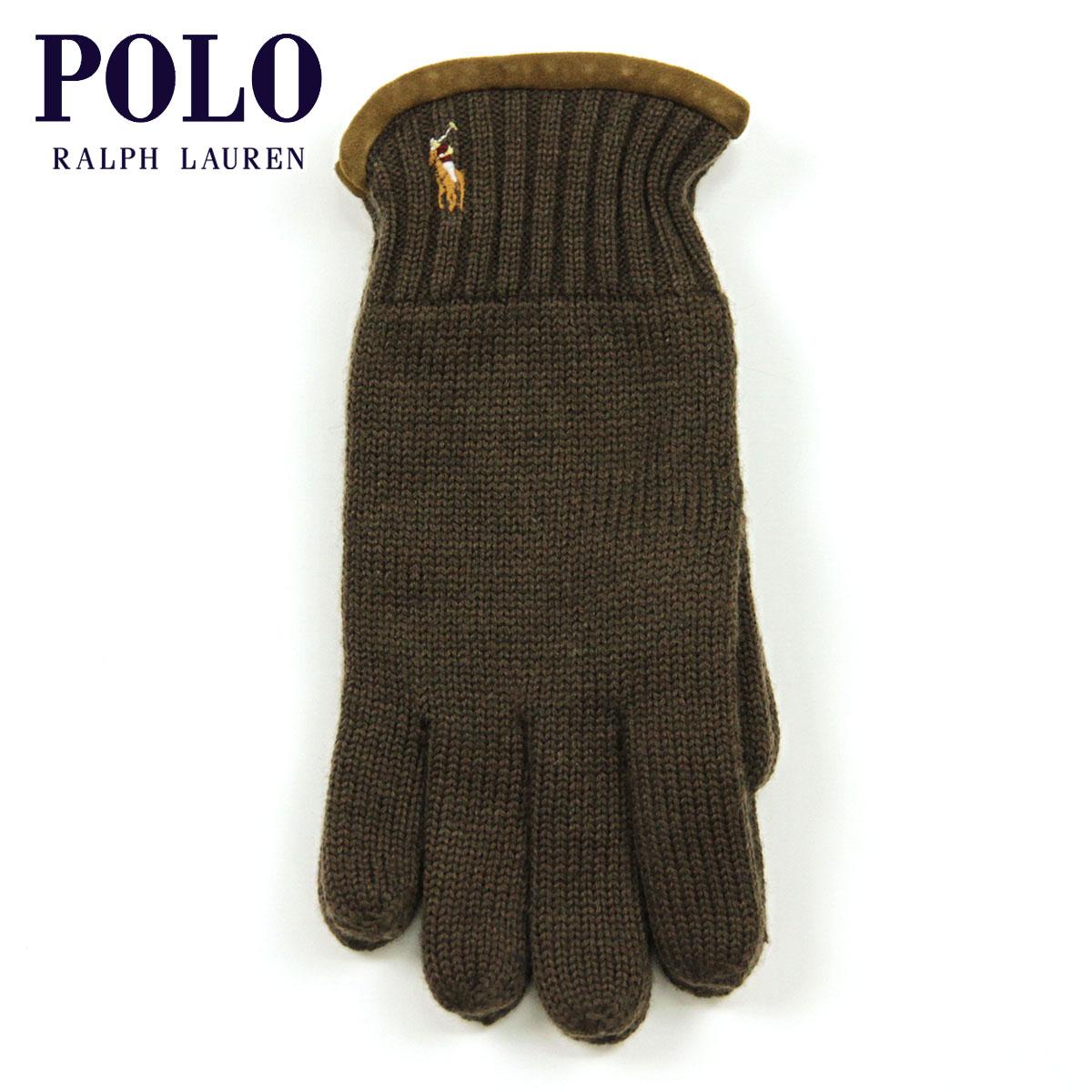 【販売期間 4/19 10:00〜4/26 09:59】 ポロ ラルフローレン POLO RALPH LAUREN 正規品 手袋 Classic Merino Gloves BROWN D20S30