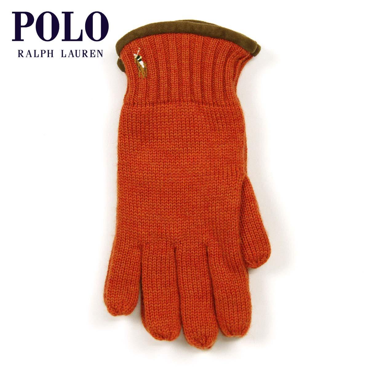 ポロ ラルフローレン POLO RALPH LAUREN 正規品 手袋 Classic Merino Gloves ORANGE D20S30
