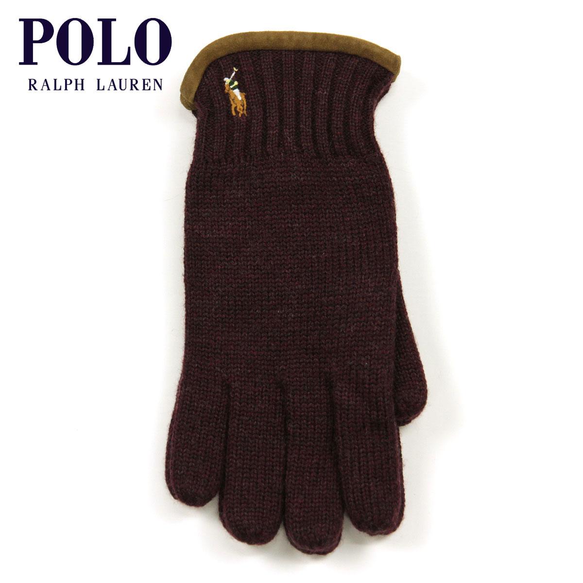 30%OFFセール 【販売期間 4/22 09:00〜4/26 09:59】 ポロ ラルフローレン POLO RALPH LAUREN 正規品 手袋 Classic Merino Gloves BURGUNDY D20S30