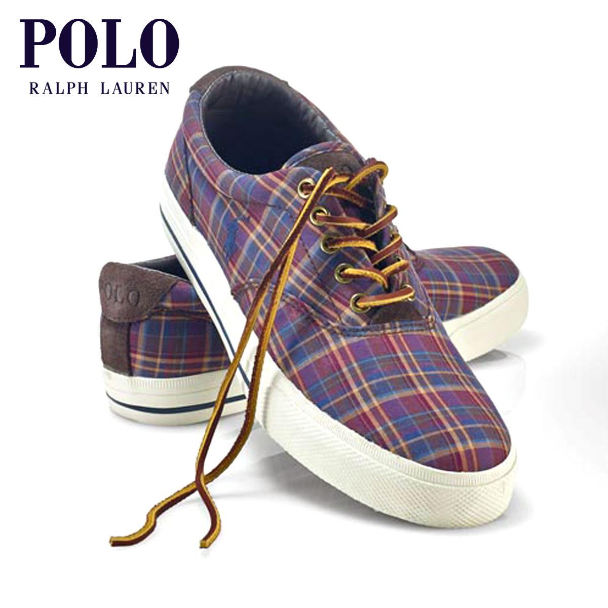ポロ ラルフローレン POLO RALPH LAUREN 正規品 メンズ 靴 シューズ PLAID TWILL VAUGHN SNEAKER