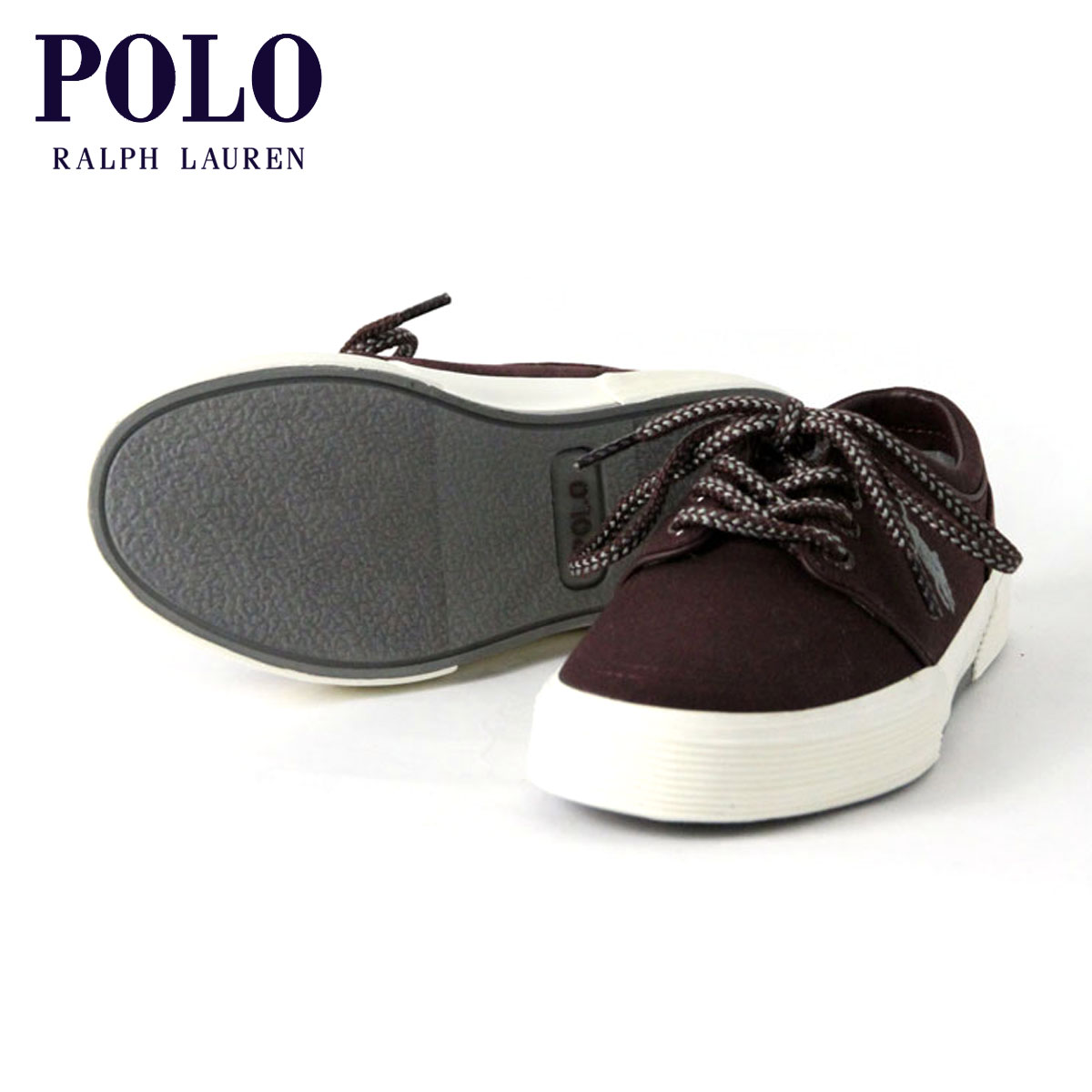 【販売期間 2/19 10:00〜3/2 9:59】 ポロ ラルフローレン POLO RALPH LAUREN 正規品 メンズ 靴 シューズ FAXON CANVAS LOW SNEAKER