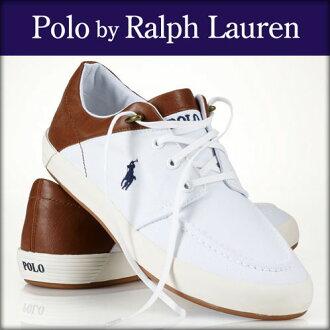 馬球拉爾夫勞倫POLO RALPH LAUREN正規的物品人鞋鞋TWO-TONED JERRED SNEAKER