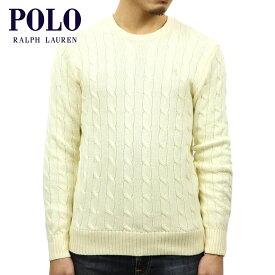 ポロ ラルフローレン セーター メンズ 正規品 POLO RALPH LAUREN CABLE-KNIT COTTON SWEATER