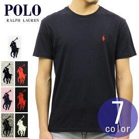 ポロ ラルフローレン POLO RALPH LAUREN 正規品 メンズ クルーネック ワンポイント 刺繍入り 半袖Tシャツ SHORT-SLEEVED TEE